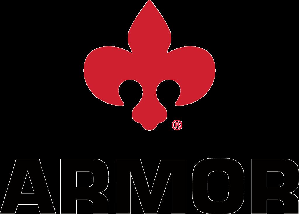 Armor 2021 Corporate Logo with Fleur-de-lis Transparent